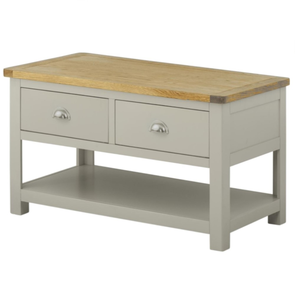 Ex Display Clearance Cotswold Coffee Table With Drawers Stone