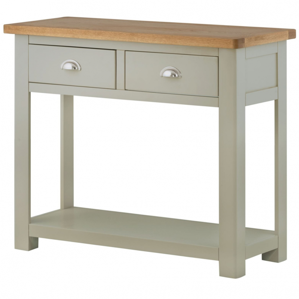Cotswold 2 Drawer Console Table – 3 Colour Options Stone