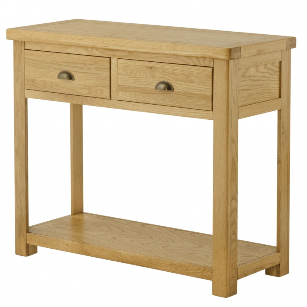 Cotswold 2 Drawer Console Table – 3 Colour Options oak