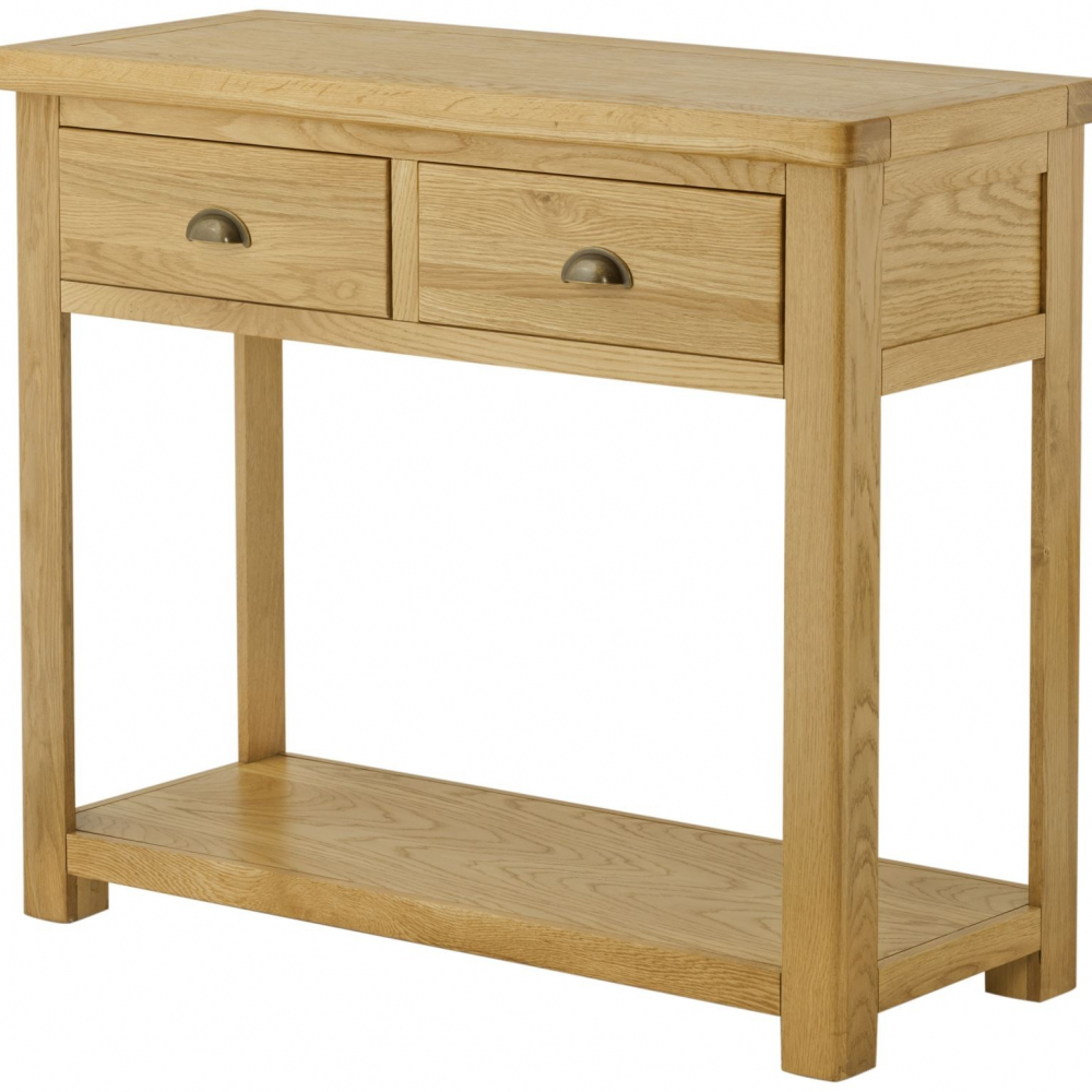Cotswold 2 Drawer Console Table-oak