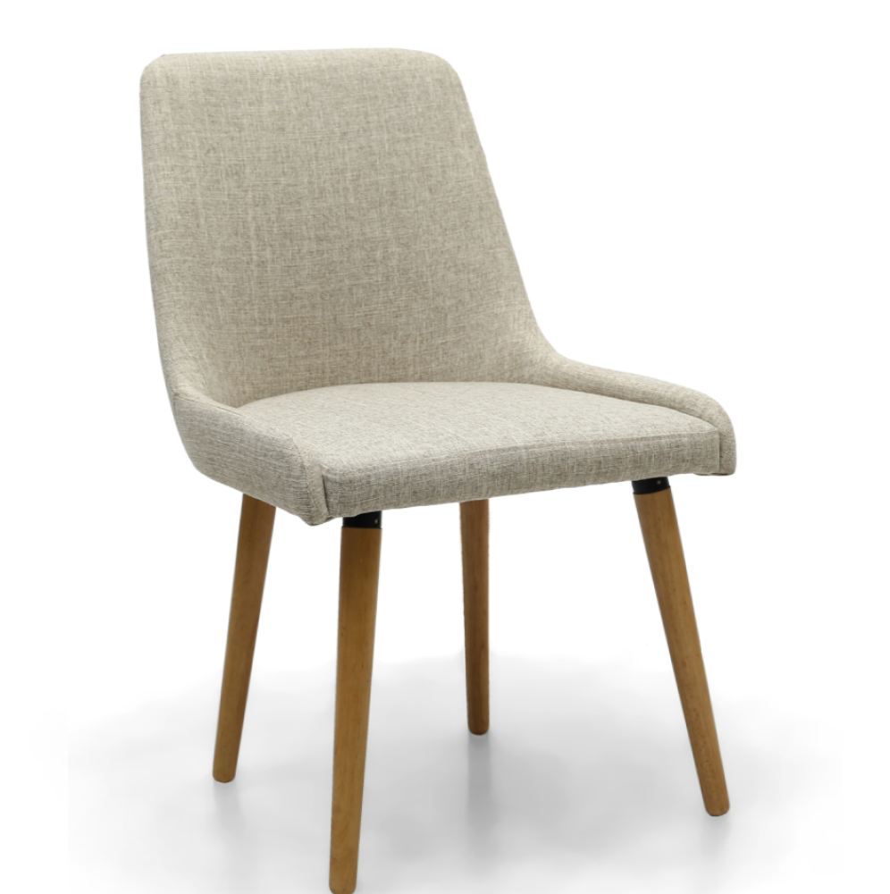 CAPRI FLAX EFFECT NATURAL DINING CHAIR