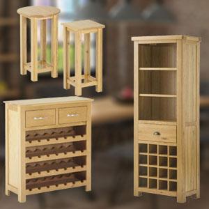 Wine Rack & Tables