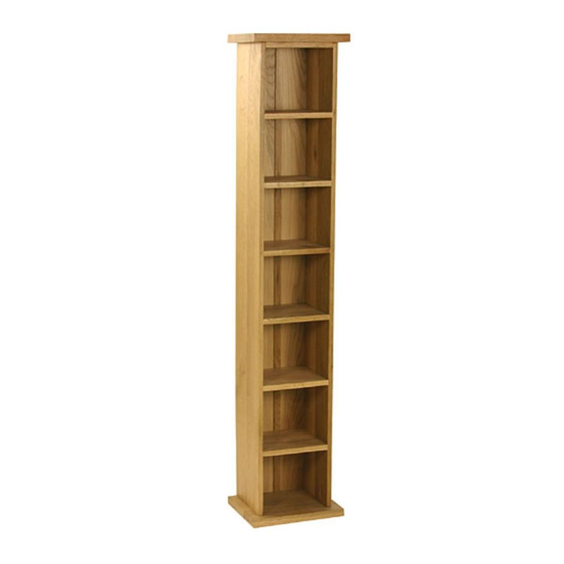 Ex Display Clearance Old Royal Oak Single CD Tower - 6 shelf