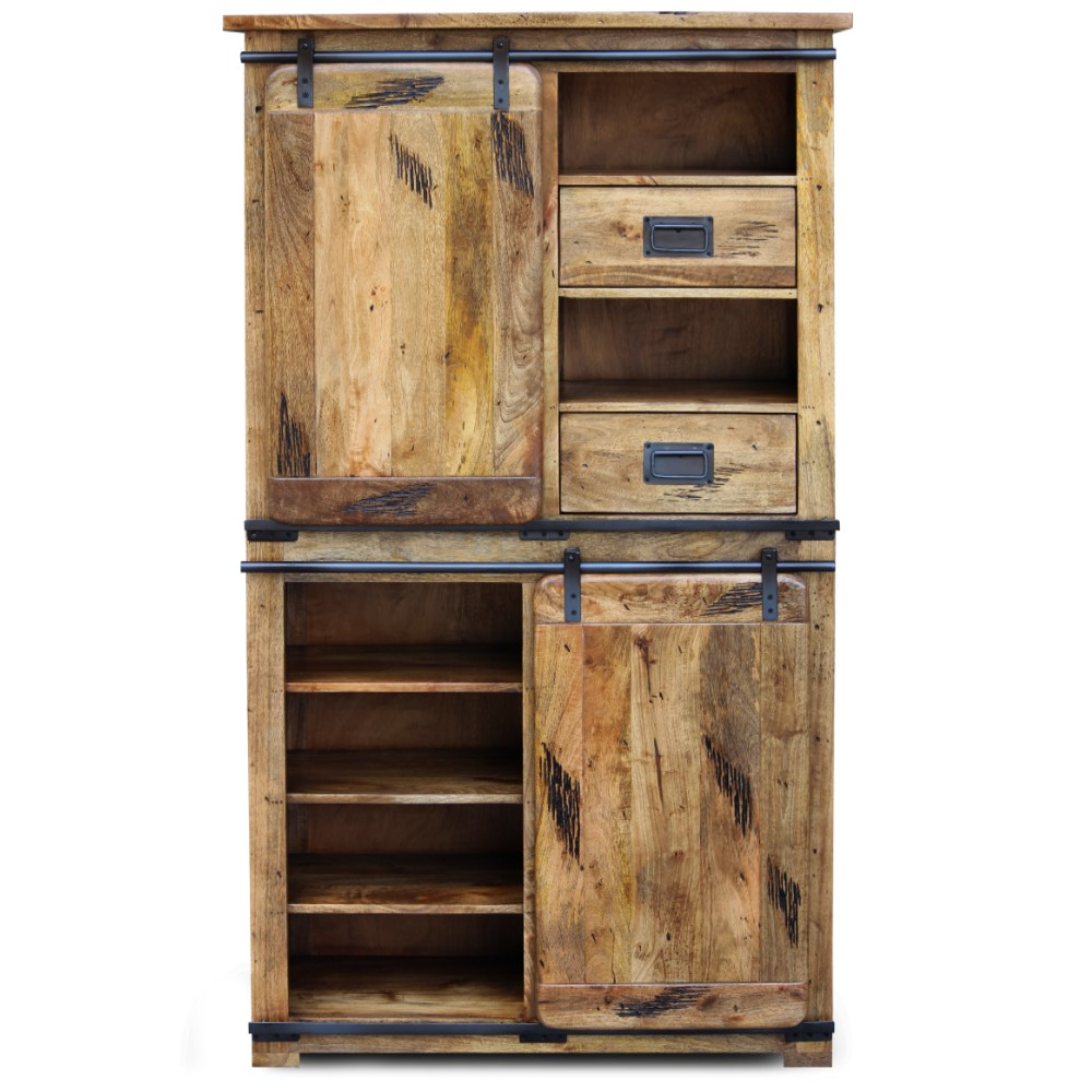mango wood Collection Double Display Unit 1