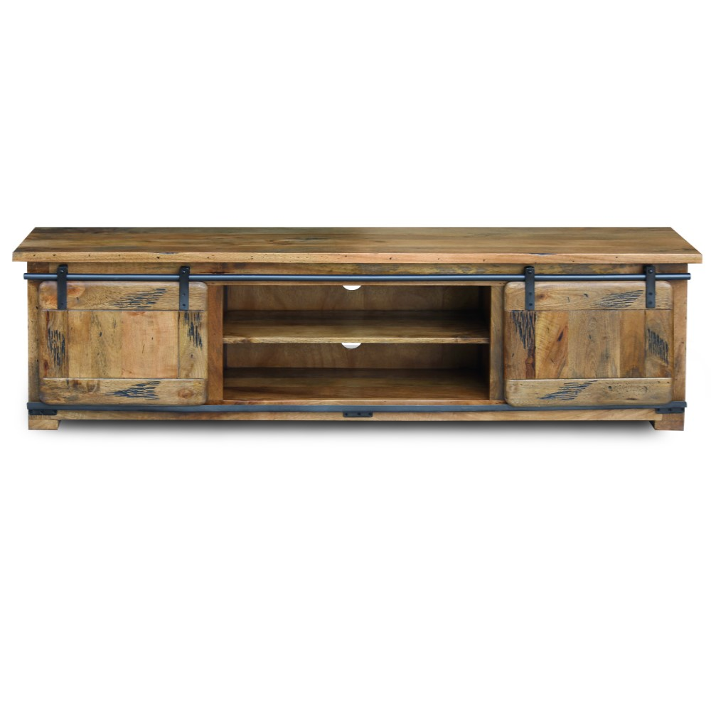 Raipur mango wood Collection Large TV Stand 1