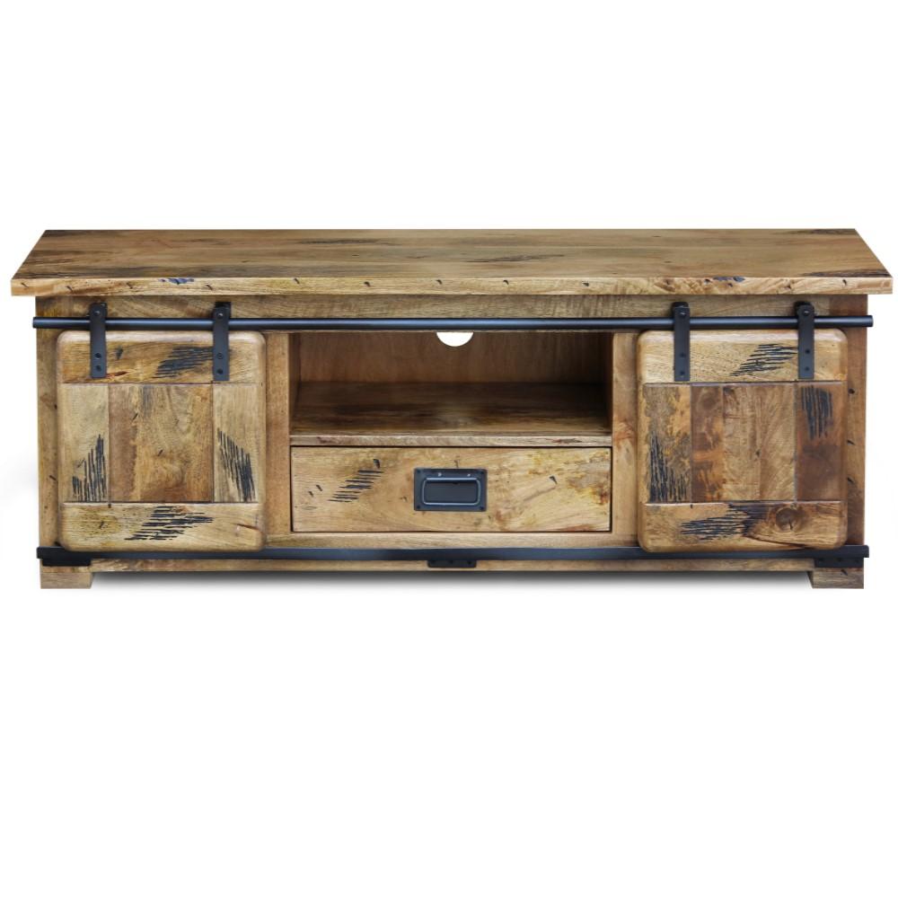 Raipur mango wood Collection Medium TV Stand1
