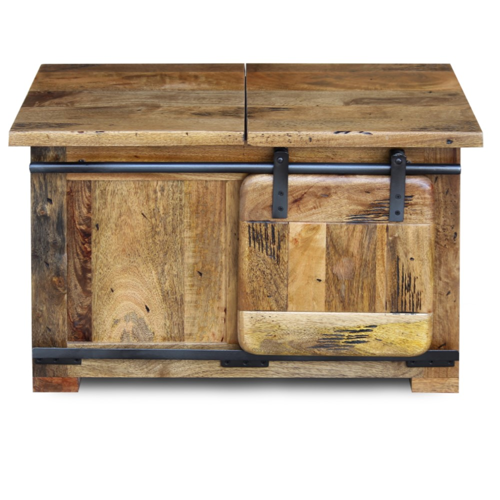 Mango wood Collection Storage Coffee Table8