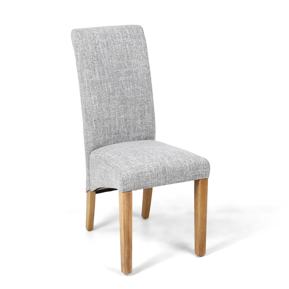 Flax Effect Grey Weaver Dining Chair, Dining Room Chairs