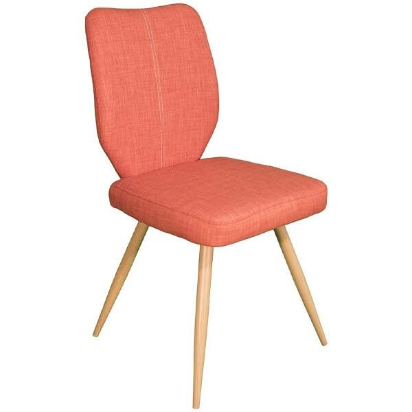 Orange upholstered chair
