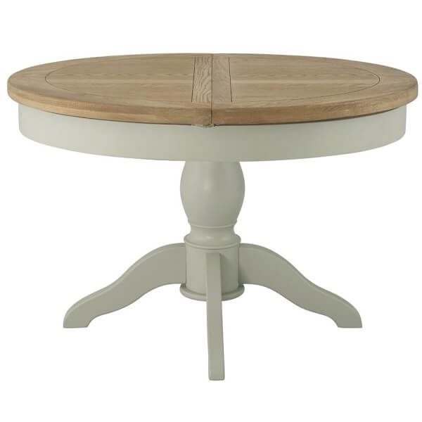 Cotswold Stone Grand Round Butterfly Extending Dining Table