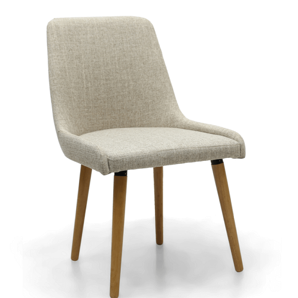 White low back dining chair