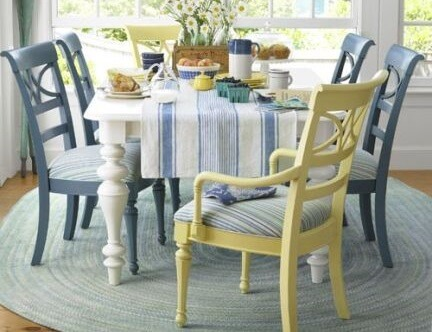 colour mismatched dining chair