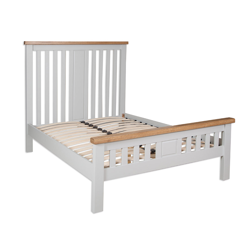 "Melbourne French Grey Double 4`6"" Bed"