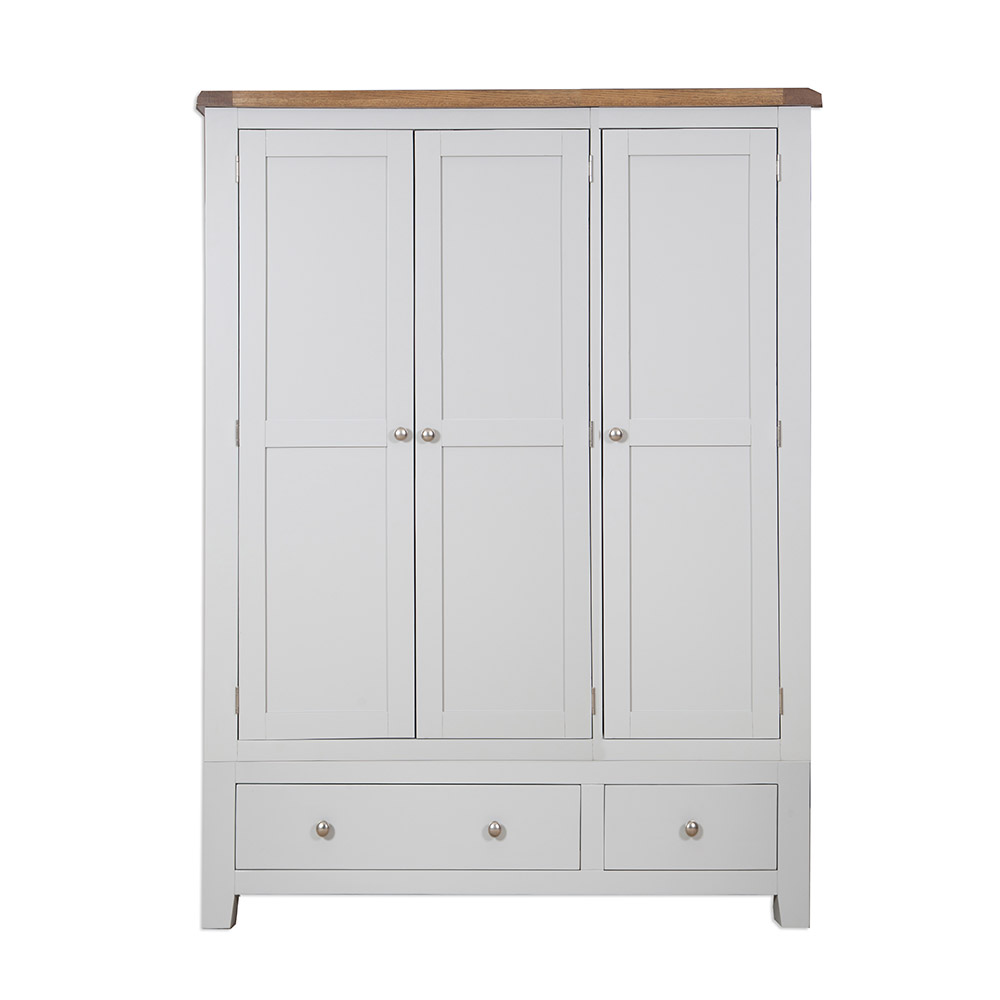 Melbourne French Grey Triple Wardrobe