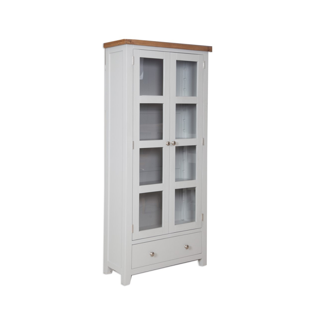 Melbourne French Grey Display Cabinet
