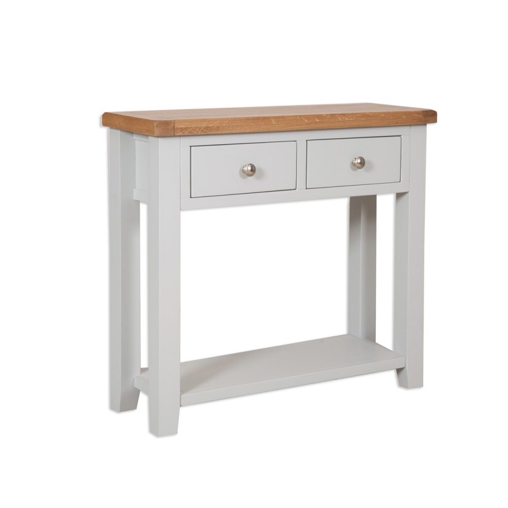 Melbourne French Grey 2 Drawer Console Table