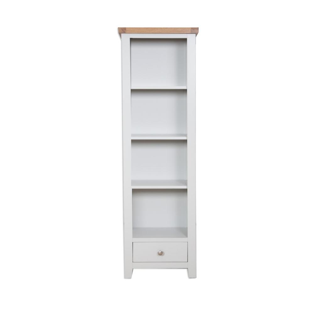 Melbourne French Grey Slim Bookcase