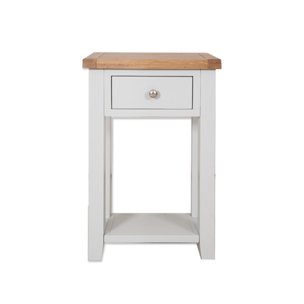 Melbourne French grey 1 drawer console