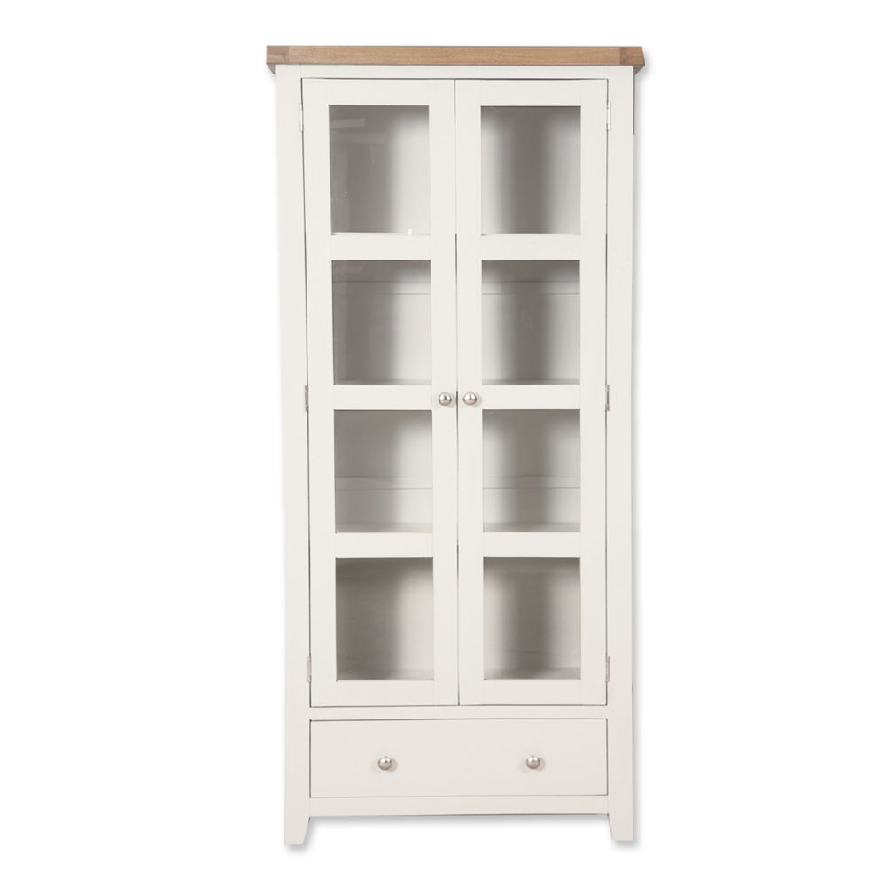 Melbourne White Display Cabinet