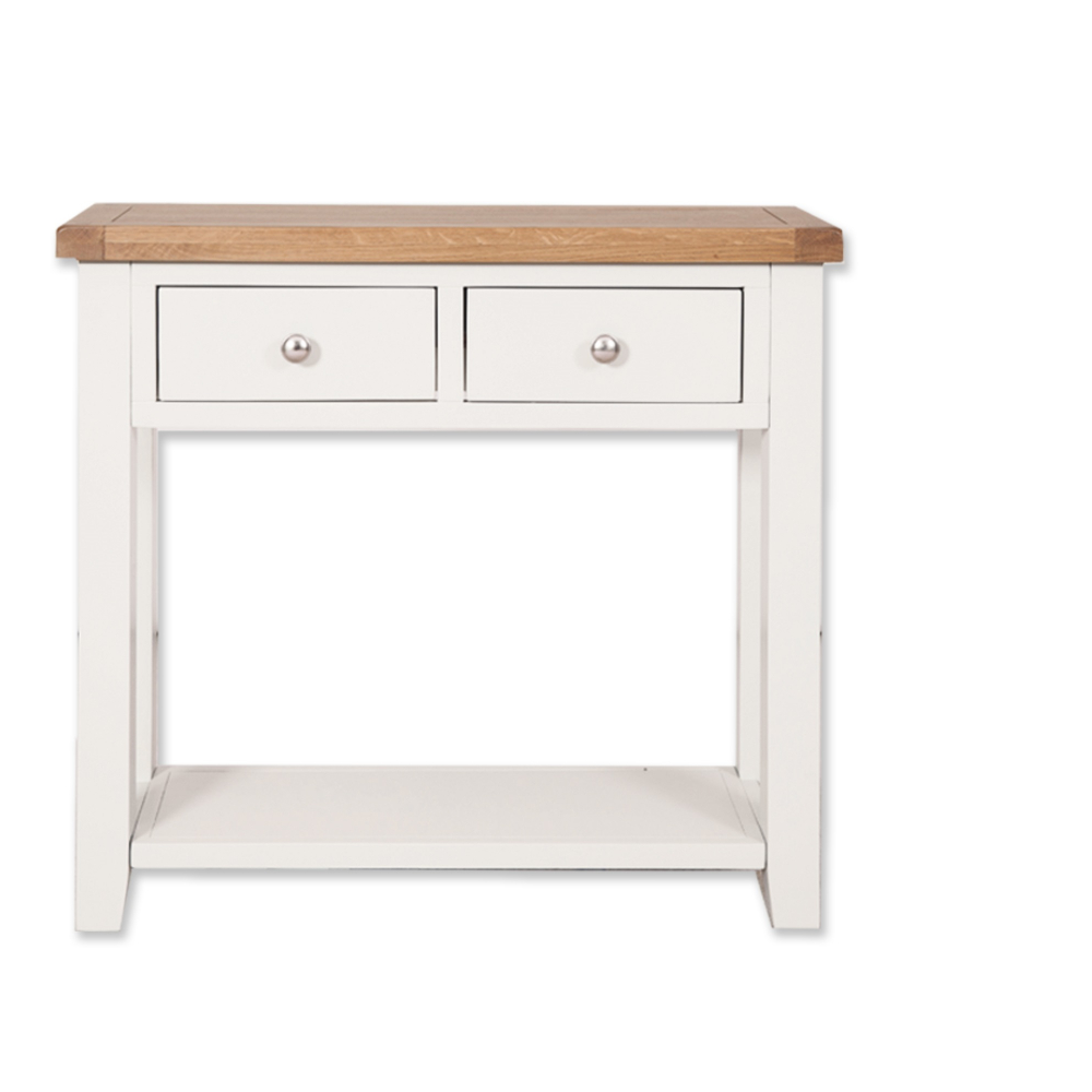 Melbourne White 2 Drawer Console Table