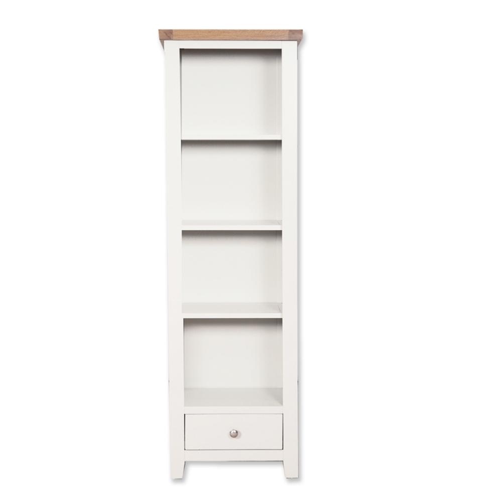 Melbourne White Slim Bookcase
