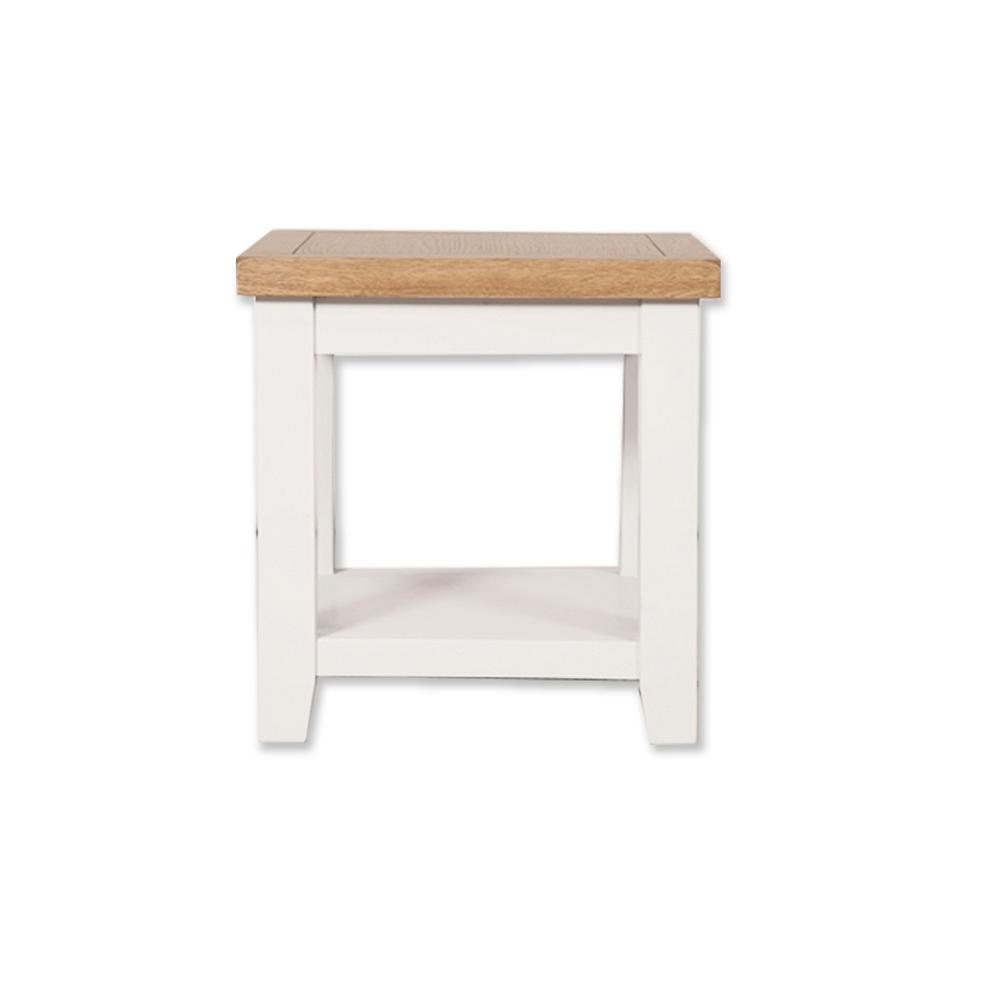 Melbourne White Lamp Table