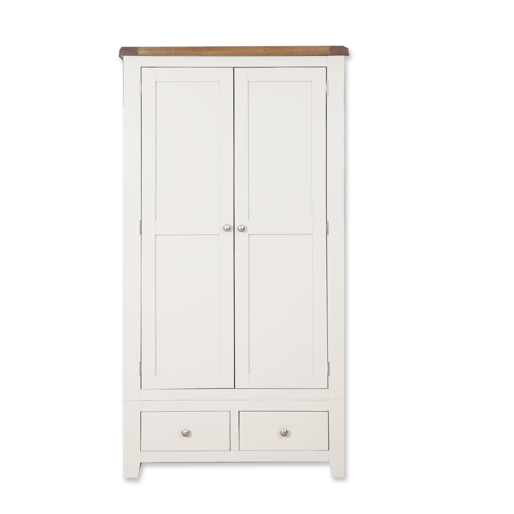 Melbourne White 2 Door 2 Drawer Wardrobe