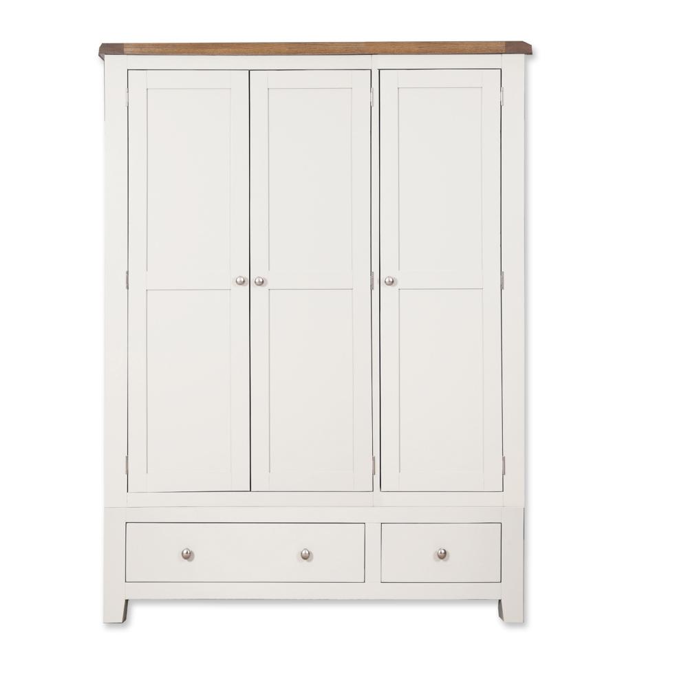 Melbourne White 3 Door Triple Wardrobe