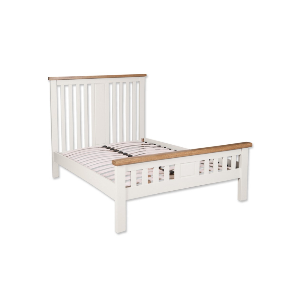 """Melbourne White 4'6"""" Double Bed Frame"""