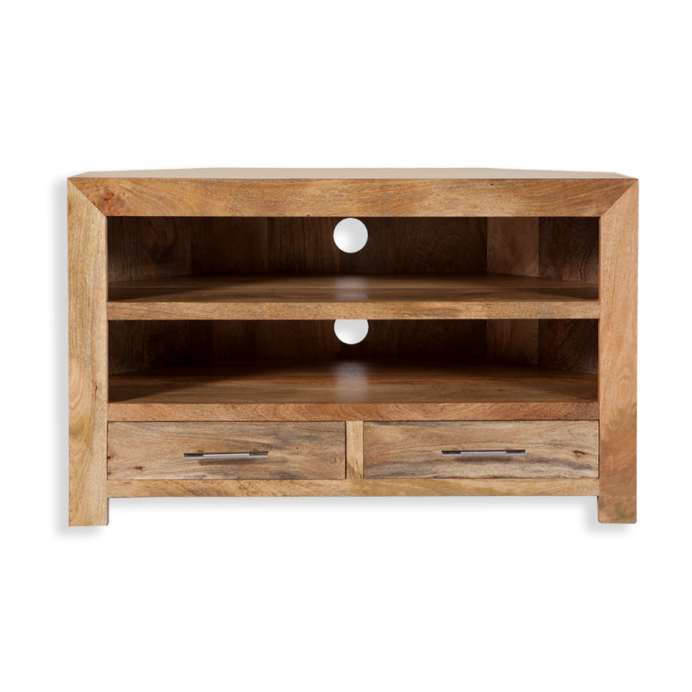Cube Petite Mango TV Cabinet With Drawers